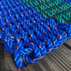 blue & emerald lobster rope doormat