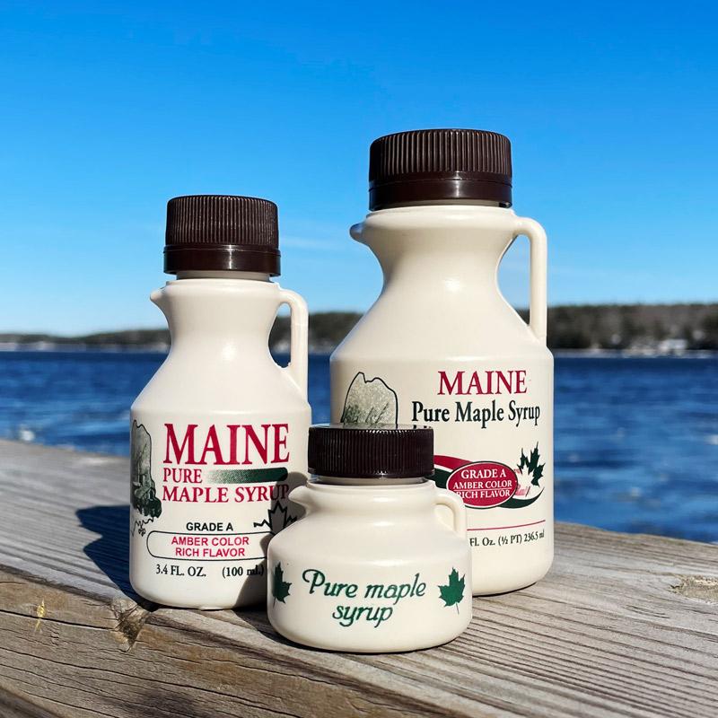 Maine Maple Syrup - 3.4 oz, 8 oz, 1.36 oz