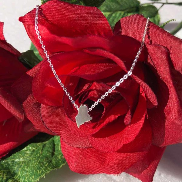 Mini Maine Necklace - Sterling Silver on Sterling Silver