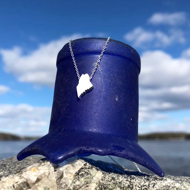Mini Maine Necklace | Sterling Silver on Sterling Silver