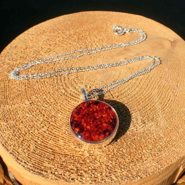 Crushed Lobster Shell Silver Necklace