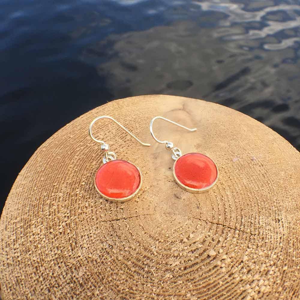 Solid Lobster Shell Silver Earrings