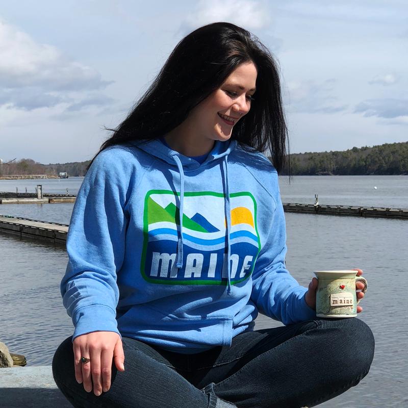 Blue, Patamainia, Maine Hoodie.