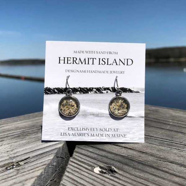 Hermit Island Beach Sand Earrings