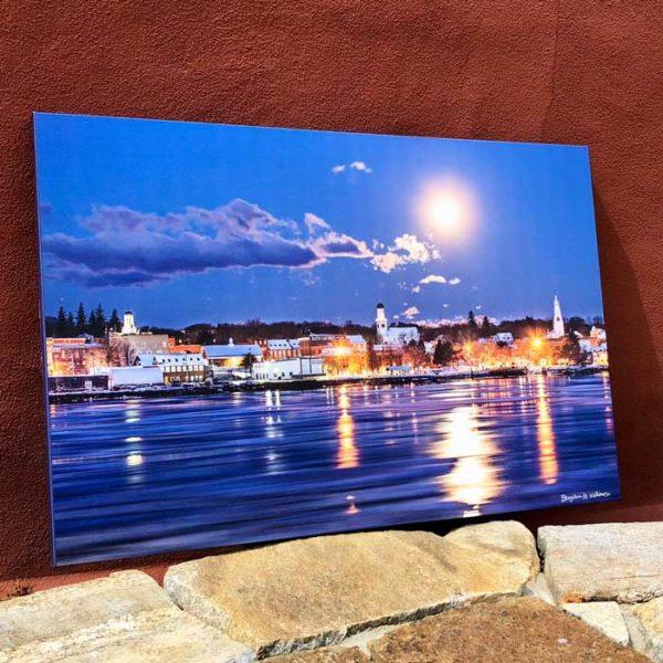 Bath Maine Moonlight Skyline   Canvas by Benjamin Williamson Description