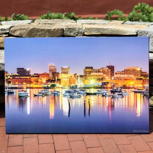 Portland Waterfront Skyline   Canvas by Benjamin Williamson Description