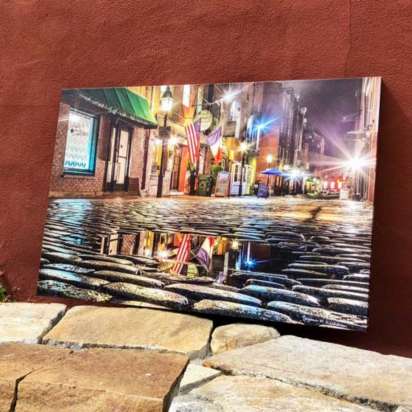 Wharf Street Puddle   Canvas by Benjamin Williamson