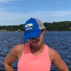 Blue Maine Trucker Hat