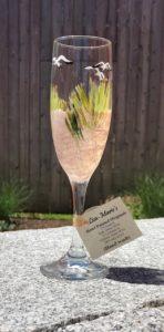Lisa-Marie's Beach Scene Champagne Glass