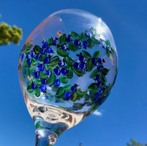 Lisa-Marie's Blueberry Wine Goblet