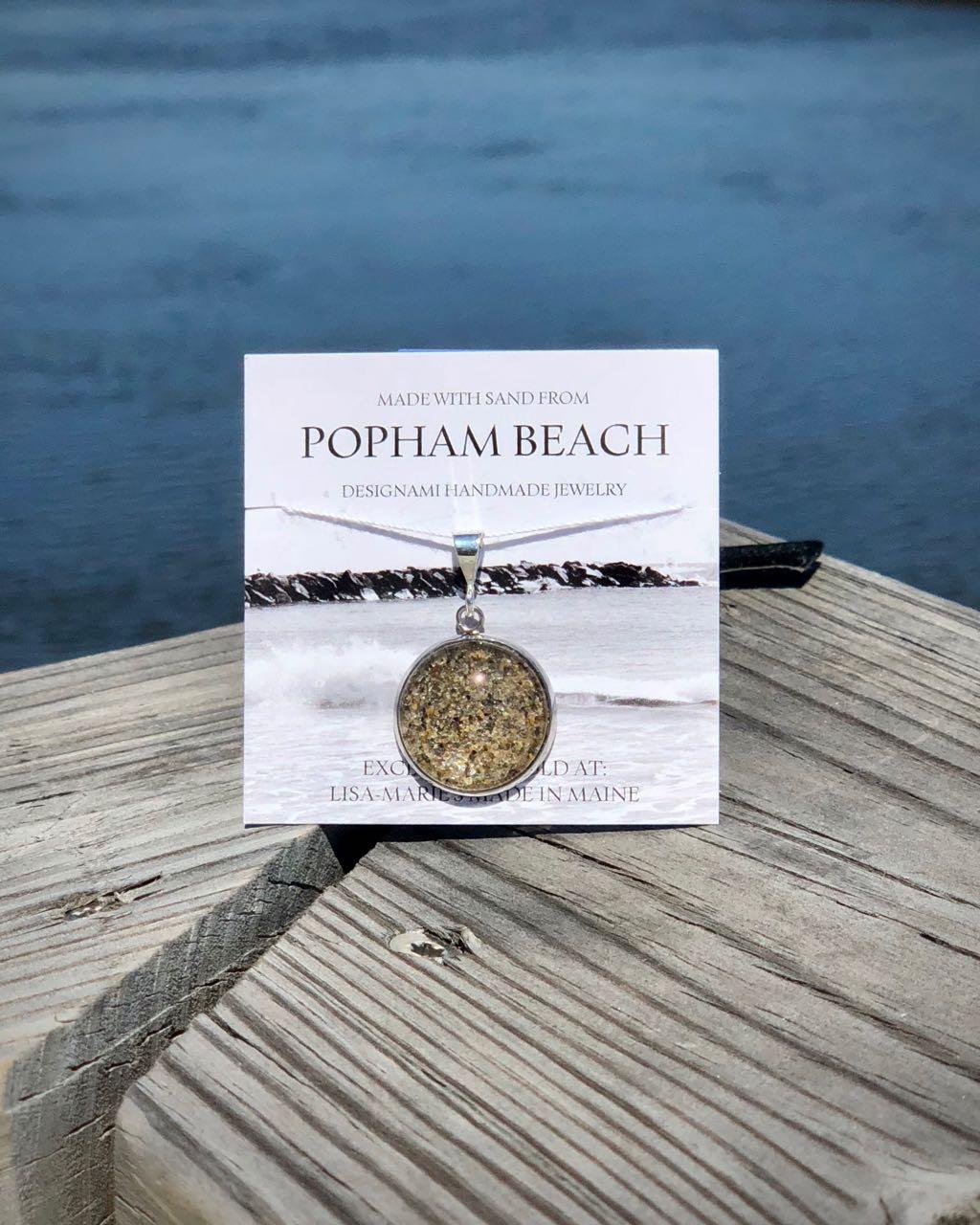 Popham Beach Sand Bangle Bracelet, Popham Beach Sand Jewelry