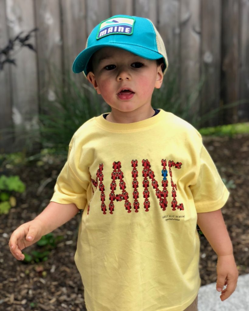 Youth MAINE Lobster T-Shirt & Maine Trucker Hat