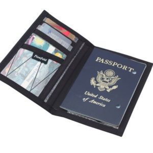 Flowfold Wallet - Black Passport Cover