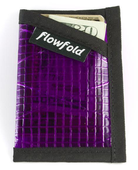 Flowfold Wallet - Purple Minimalist