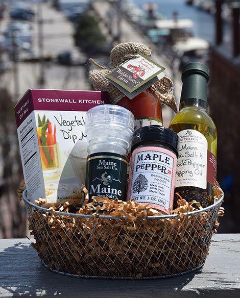 Maine Made Gift Basket, Dip Kit Maine Made Gift Basket