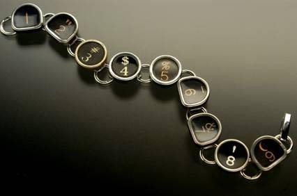 Typewriter Key Bracelet