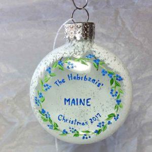 "Custom 2017 Ornament ""The Habibzai's"""