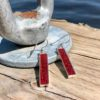 Crushed Lobster Shell Sterling Silver Rectangle Earrings