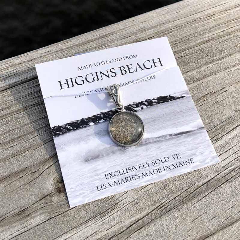 Higgins Beach Sand Pendant