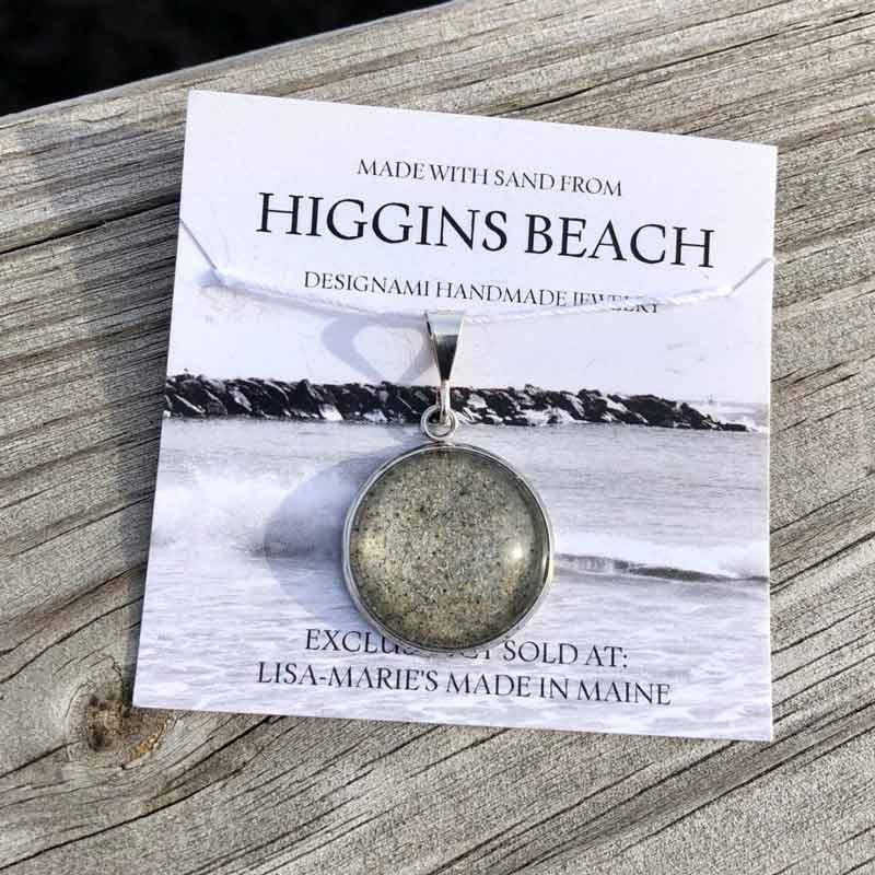 Large Higgins Beach Sand Pendant