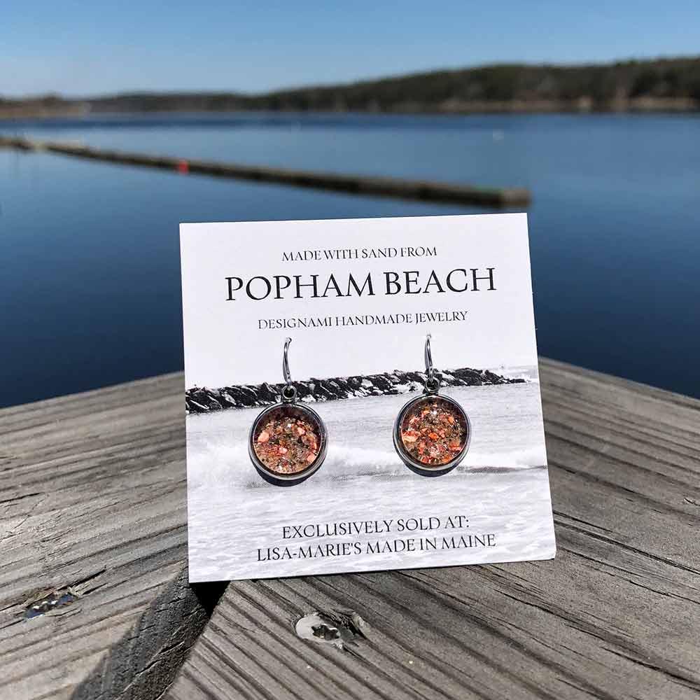 Popham Beach Sand Earrings