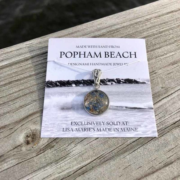 Small Popham Beach Sand with Crushed Mussel Shell Pendant