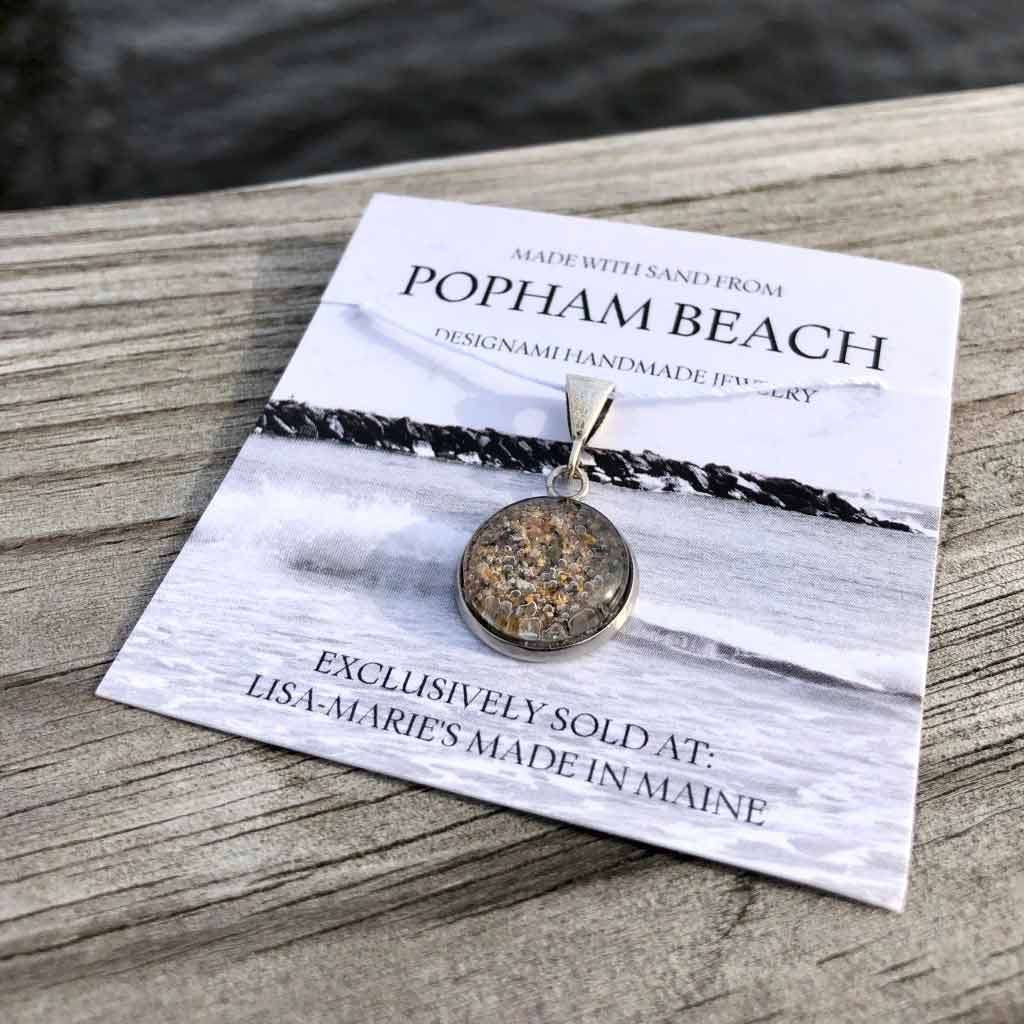 Small Popham Beach Sand Pendant