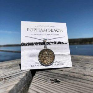 Large Popham Beach Sand Pendant