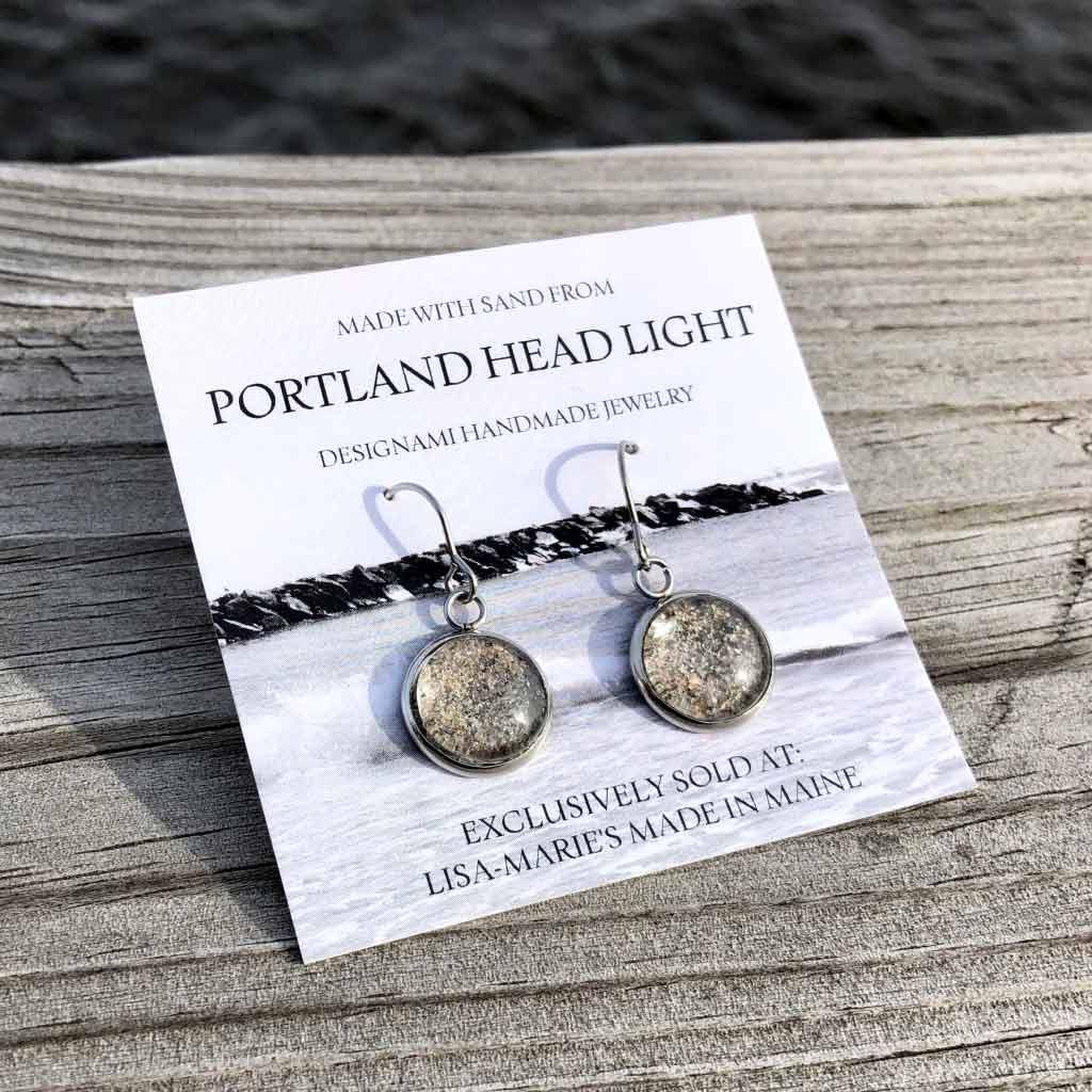Portland Head Light Sand Earrings