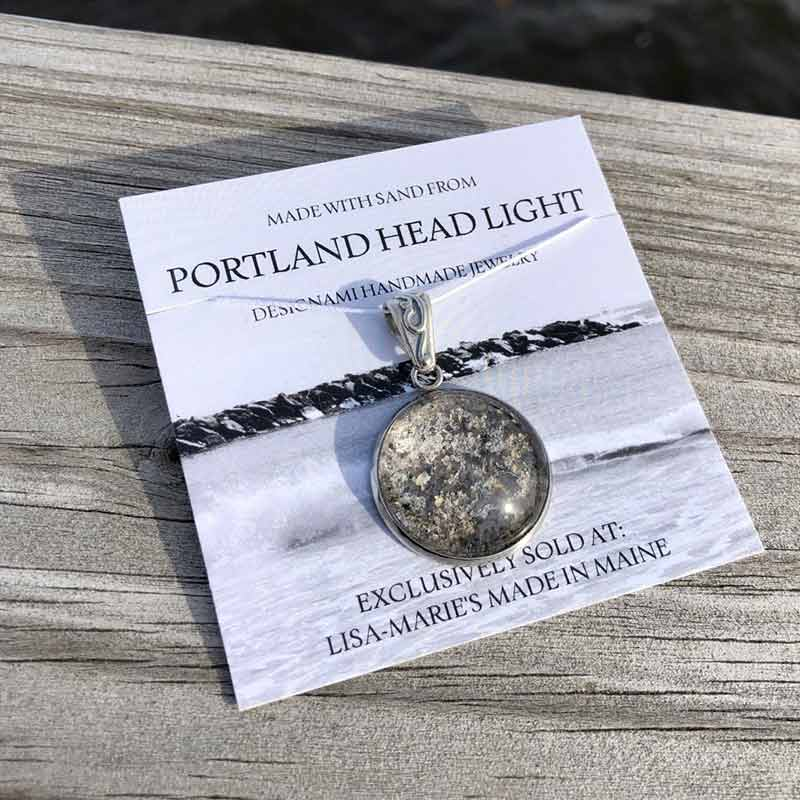 Portland Head Light Sand Pendant