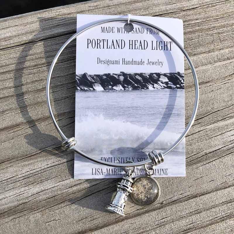 Portland Head Light Sand Bangle Bracelet