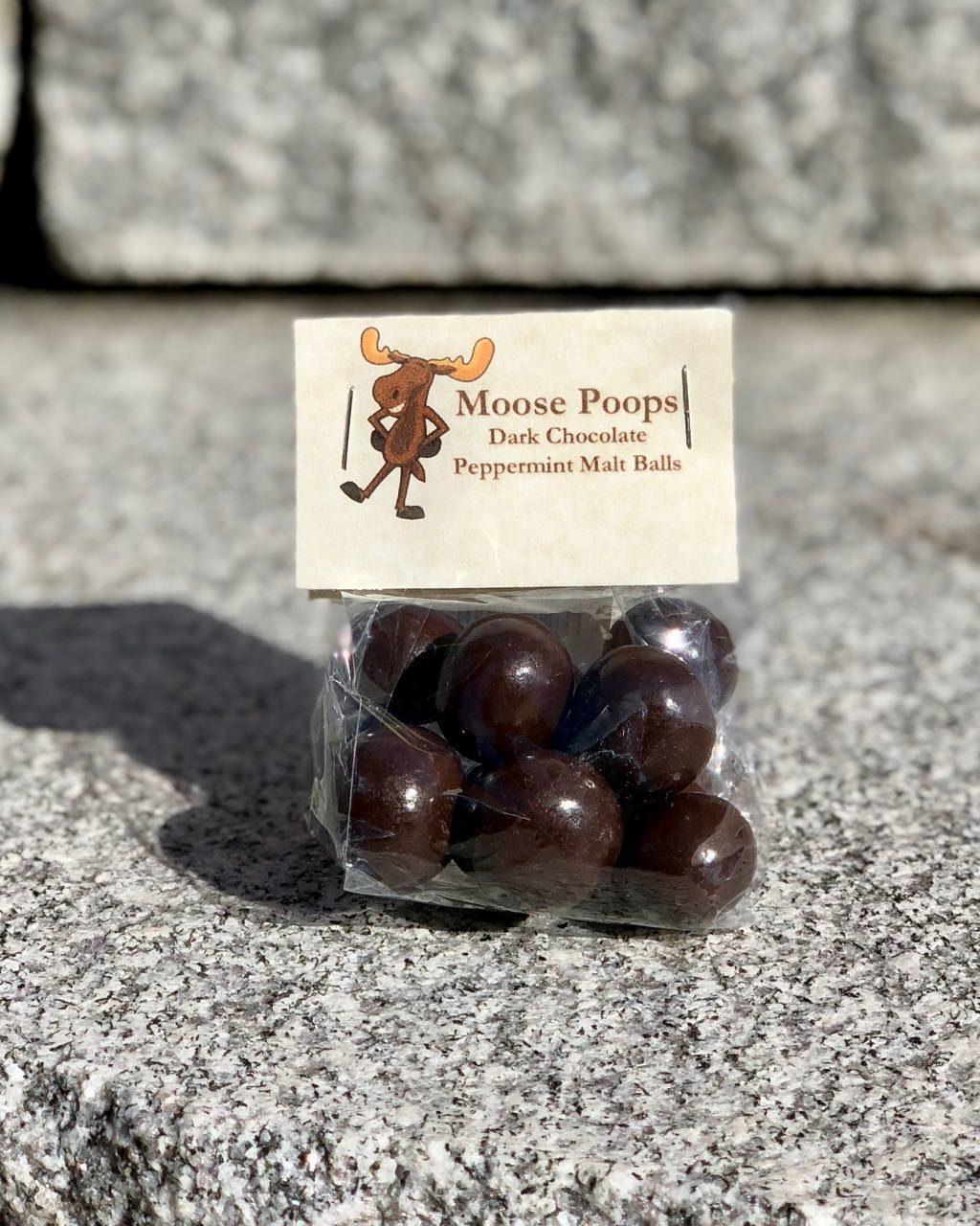 Moose Poop Candy - Dark Chocolate Peppermint Malt Balls