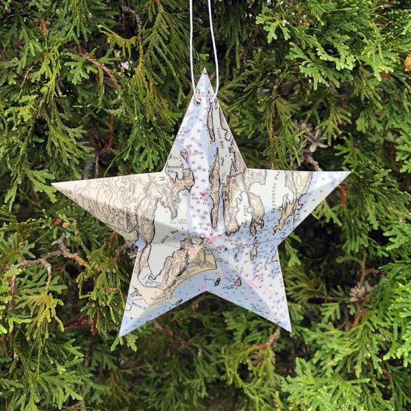 Popham Chart Star Ornament