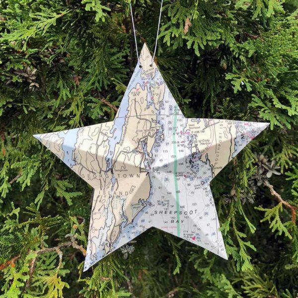 Five Islands / Georgetown Chart Star Ornament