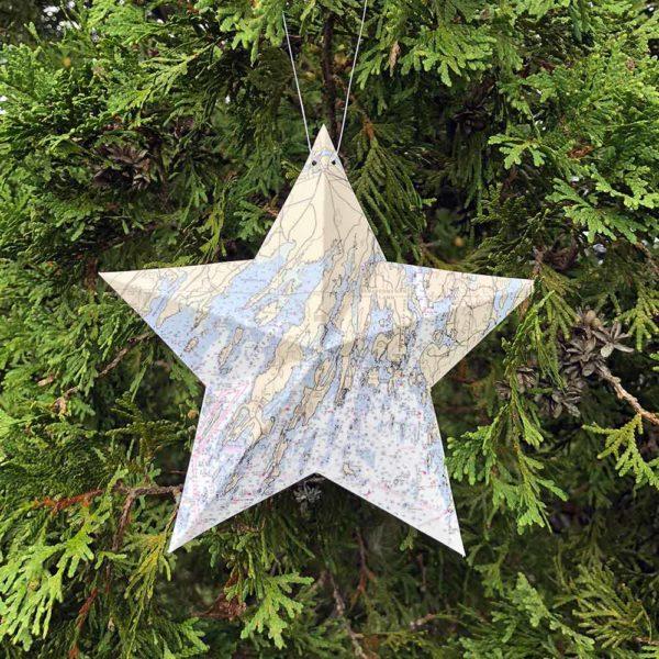 Harpswell Chart Star Ornament