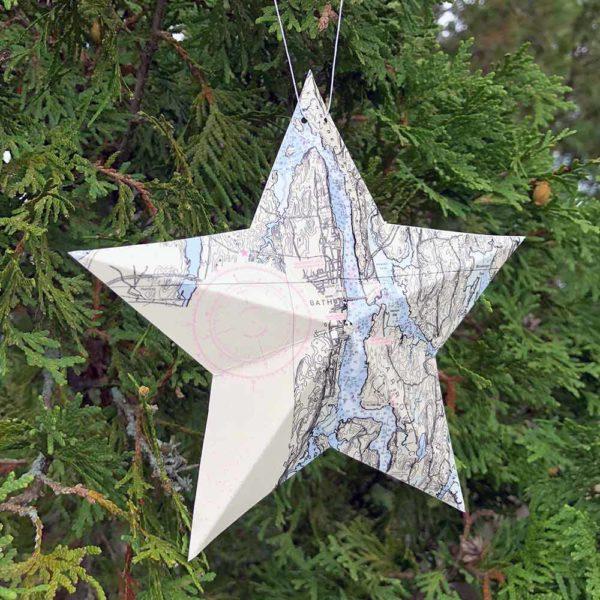 Bath Chart Star Ornament