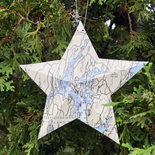 West Bath Chart Star Ornament