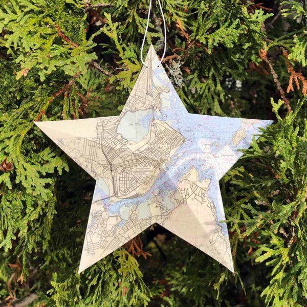 Portland Chart Star Ornament