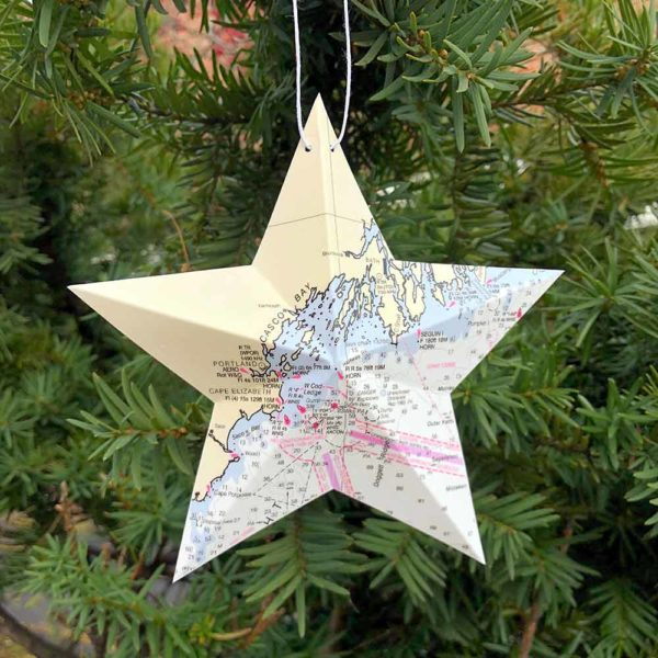 Casco Bay Chart Star Ornament