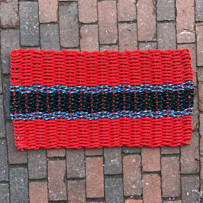 Black Amp Red Lobster Rope Doormat Lisa Marie S Made In Maine