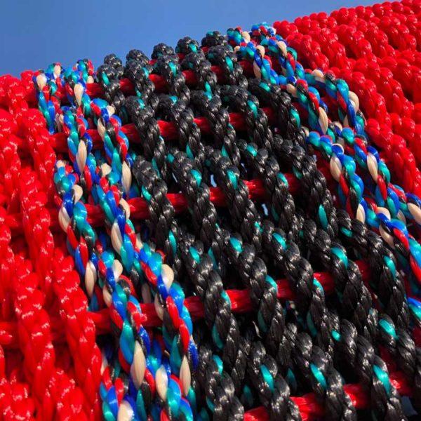 Black & Red Lobster Rope Doormat