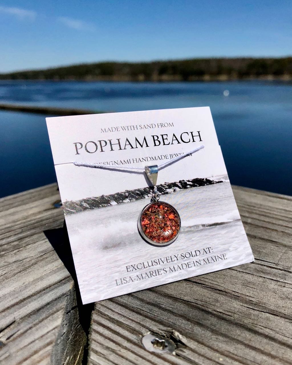 Small Popham Beach Sand with Lobster Shell Pendant