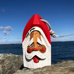 Large Hand Carved Santa Buoy