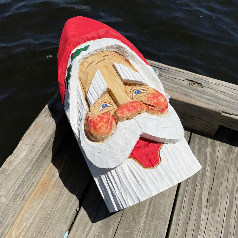Hand Carved Santa Buoy #10