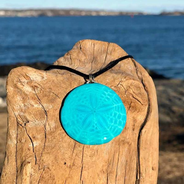 Teal Sand Dollar Necklace