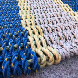 Blue & Lemon Lobster Rope Doormat