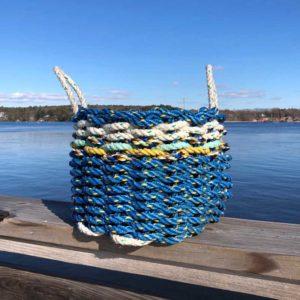 Blue & White Lobster Rope Basket