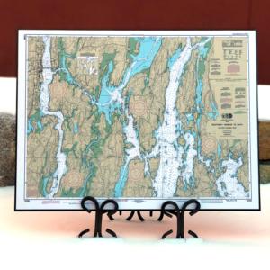 NOAA Chart - Boothbay Harbor to Bath, Maine