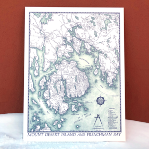 Maine Mapmaker Map - Mount Desert Island and Frenchman's Bay