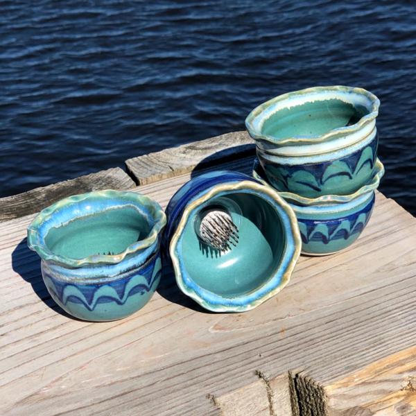 Ikebana in Peacock Glaze by Unity Pond Pottery